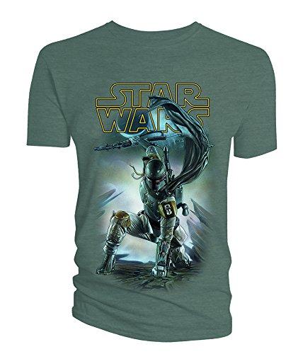 Star-Wars-Boba-Fett-AG-con-logotipo-camiseta-para-hombre