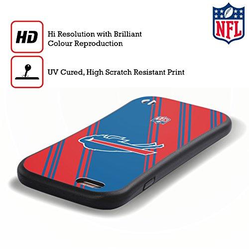 Ufficiale NFL Pattern 2017/18 Buffalo Bills Case Ibrida per Apple iPhone 7 Plus / 8 Plus Righe