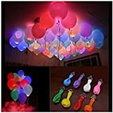 A2Z SHOPMART LED Light Balloons, Pack of 15 (Mixed colors)