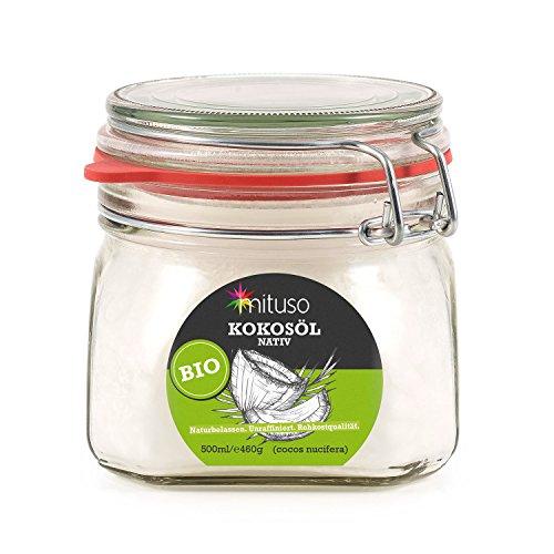 mituso - Aceite de coco orgánico, nativo, 1 unidad (500 ml) en tarro