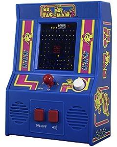 Basic Fun! ¡Diversión básica! 09614 Ms Pac-Man Mini Arcade Juego (4C Sceen), Multicolor