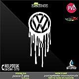 [ERREINGE] STICKER PRE-SPACED bianco 20cm - Volkswagen JDM DUB Illest Vw Hoonigan Tuning Racing Drift - Aufkleber Decal Transfer Vinyl Wandaufkleber Laptop Auto Motorrad Helm Camper