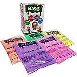 Magic Holi Colours Powder Box (60gm Each, 300gms) - Pack of 5