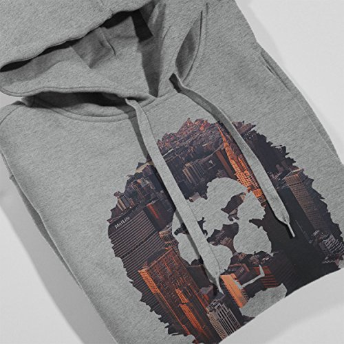 Lion Cityscape Women's Hooded Sweatshirt Heather Grey