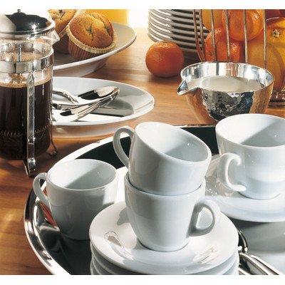 Kahla 570436O90057C Pronto Weiß, Kaffeeset 18-tlg. Porzellan Geschirr, Kaffee Kuchen Tasse Teller...