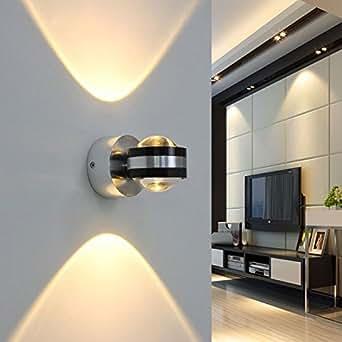 coocnh 6w led wandleuchten kugellampe flurlampe modern design lampe leuchte wand innen wandlampe. Black Bedroom Furniture Sets. Home Design Ideas