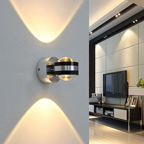 Coocnh Applique murale LED 6W up and down moderne design éclairage decoratif Lampe murale aluminium Blanc Froid 3500K