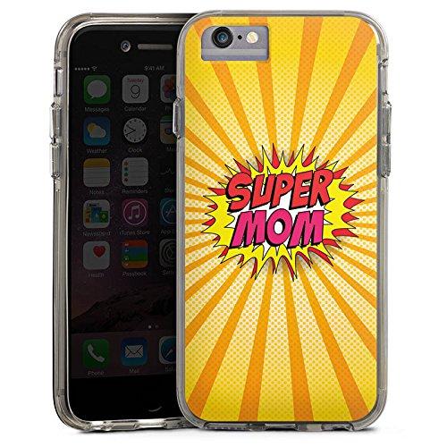 Apple iPhone 8 Bumper Hülle Bumper Case Glitzer Hülle Muttertag Geschenkidee Geschenk Bumper Case transparent grau