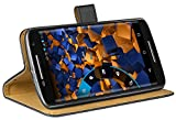 mumbi Ledertasche im Bookstyle für Motorola Moto X Play Tasche