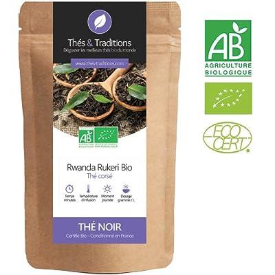 Thé noir du Rwanda Rukeri - Thé d'Afrique | Sachet 100g vrac | ? Certifié Agriculture biologique ?