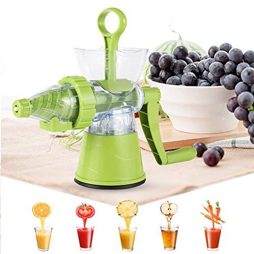 Slow Juicer - Exprimidor manual para frutas y verduras, exprimidor de frutas y verduras, exprimidor...