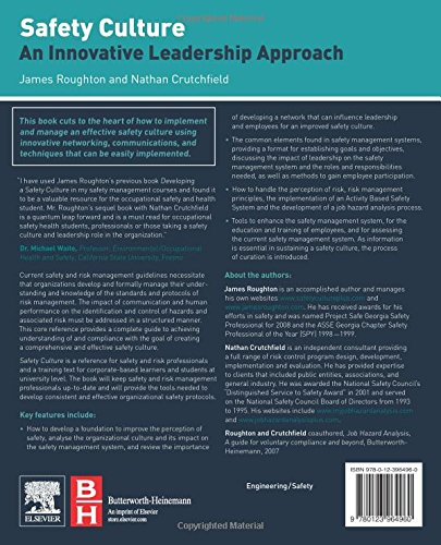 Safety Culture: An Innovative Leadership Approach