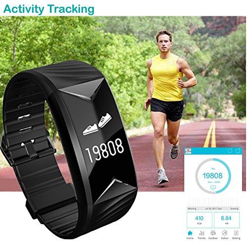 Willful Pulsera Inteligente para Deporte  Fitness Tracker con Pulsómetros  Cronómetro  Gps para running  monitor de ritmo cardiac  Notificación de mensajes  Impermeable IP67  Monitor de Sueño Pulsera