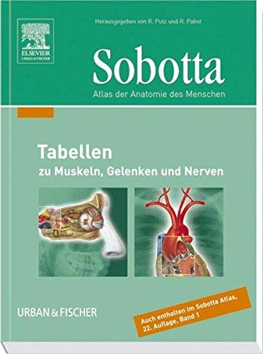 Sobotta Tabellen: Tabellen zu Muskeln, Gelenken und Nerven<br>- passend zur 22.A. des Atlas Anatomie- -