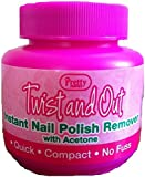 3 x Pretty Twist & Out Instant Nail Varnish Remover Pots (Acetone Free)