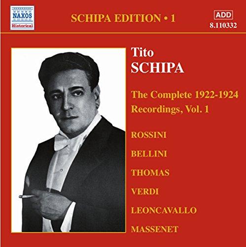 Schipa, Tito: Complete Victor Recordings (the), Vol. 1 (1922-1925)