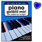 Piano gefällt mir! 50 Chart und Film Hits: 50 Chart-Hits. Das ultimative Spielbuch für Klavier von Hans-Günter Heumann - leicht arrangiert - mit bunter herzförmiger Notenklammer