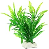 Healthy Clubs Artificial Water Green or red Plant Grass for Fish Tank Aquarium Plastic Decor (Green)