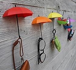 Umbrella Drop Style Clothes Key Hat MultiColor Wall Hanger Hooks 3 pcs in 1 set