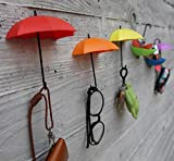 #4: Ascension set of 4 Colorful Decorative Umbrella Drop Style Clothes,Key Hall Wall Hook