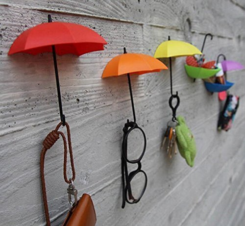 Ascension set of 4 Colorful Decorative Umbrella Drop Style Clothes,Key Hall Wall...