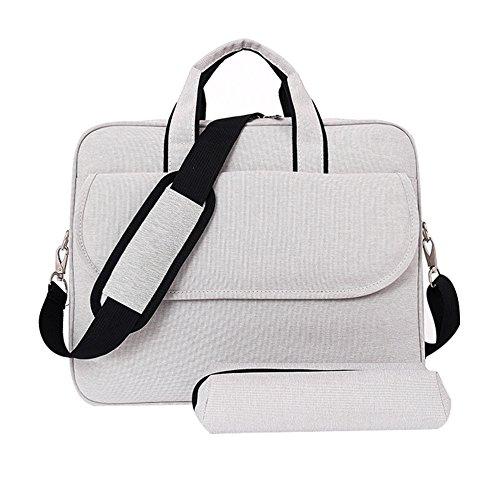 LOSORN ZPY Schulter Tasche Laptoptasche Aktentaschen Handtasche Tragetasche Notebooktasche Umhängetasche Laptop sleeve Laptop hülle mit Schultergurt Griff Weiß