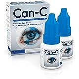 Can-C (N.A.C.) Gouttes pour les yeux, Lubrifiant pour les yeux, avec antioxydant n-acétylcarnosine. 2 flacons de 5 ml