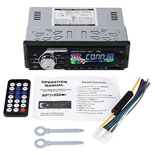 Autoradio, Acouto 12V Bluetooth Freisprecheinrichtung Auto MP3 Player Car Audio Funkempfänger mit 50 Watt x 4, USB Anschluss, SD Kartenslot, MMC und FM Radio AUX l/r RCA Fernbedienung