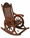 #10: Hindoro Hand Carved Amazing Rocking Chair (Brown)