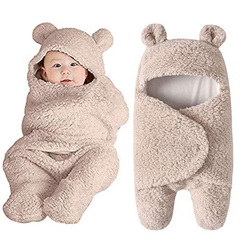 chlafsack 丨Babyschlafsack丨 Baby Schlafsack丨Baby Niedliche Decke Wickeln Schlafsack 丨Kinder Kleinkind Schlaf Sack 丨Kinderwagen Wrap丨Geeignet für Baby von 0~12 Monate (Khaki) ()