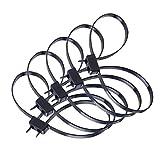 LETAOSK 10pcs Schwarz Restraint Zip Tie Handschellen Einweg Kunststoff Double D Loops Manschette Überleben