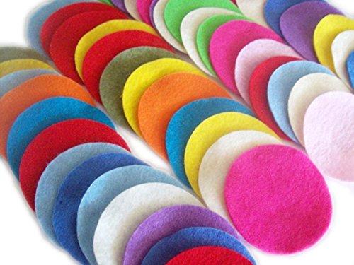 YYCRAFT Filzkreise gemischte Farben Sortiment von 160 Stück 2,5cm Kreise aus Filz -