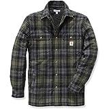 Carhartt .102333.316.S006 Shirt-Jacke Hubbard, gefüttert mit Sherpa-Fleece, Farbe:Moosgrün, Größe:L
