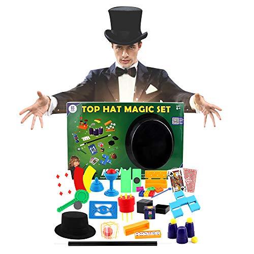 CX TECH Zauberanzug Zauberset Zauberstab Kartentricks Deluxe Komplette Zaubershow Klassische Tricks leicht gemacht Wissenschaftliches Erziehungsspielzeug Kinder ab 6 Jahren,Green
