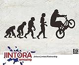 JINTORA Aufkleber für Auto/Autoaufkleber- Evolution Mountainbike - 190x80mm - JDM/Die cut - Bus - Fenster - Heckscheibe - Laptop - LKW - Tuning - schwarz