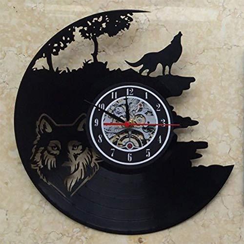 Felaaca Horloge Murale Disque Vinyle Horloge de Conception Horloge Murale Déco Vintage Salle familiale Décoration Diamètre,A