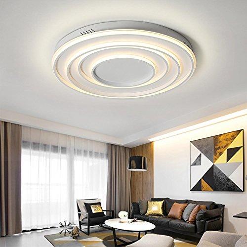 SHIEM 4 anelli semplici plafoniere bianco acrilico moderno soggiorno ...