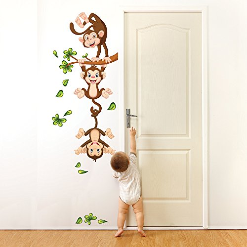 Wall art r00359 pegatinas de pared para ni os monos en el for Pegatinas pared ninos