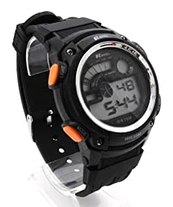Ravel Mens Digital LCD Chronograph Sports Watch - Gift Boxed - Multi Functional- 15-22cm Strap - 3ATM