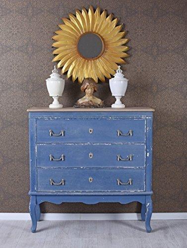 Französische Kommode Rokoko Anrichte Blau Schubladenschrank Sideboard Antik Palazzo Exklusiv (Kommode Antike Französische)