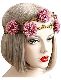 sumolux coronas de flores diadema de flores adorno de pelo accesorio para cabeza girnalda floral