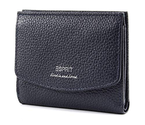 Blaue Mini Geldbörse (ESPRIT Mini-Geldbörse aus Leder)