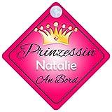 Prinzessin Natalie Baby / Kind an Bord Mädchen Auto-Zeichen (Prinzessin001)
