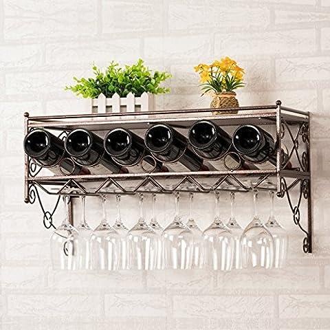 GYX vino vino rack a parete in vetro da appendere–Porta
