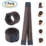 Perruque de Cheveux Bun Maker, Diealles French Twist Bun Chignon Donut Hair Piece Bob Maker DIY Tool - Café Noir (3 Pack)...