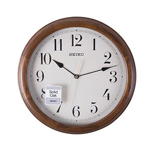 Seiko Clocks, QXA153B, Orologio da parete in legno