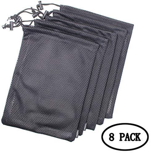BIEE Speicher aus Nylon Ditty Bag, Stuff Sack Organizer für Reisen und Outdoor-Aktivitäten (8 Packungen) -