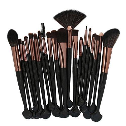 SHOBDW Pinceaux Maquillage Cosmétique Professionnel Cosmétique Brush Beauté Maquillage Brosse Makeup Brushes Cosmétique Fondation avec Sac Abordable, Coquille 22pcs Set/Kit (H)