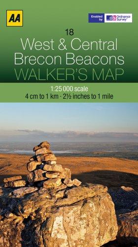 Walker's Map 18 Brecon Beacons 1 : 25 000 (Aa Walkers Map) -
