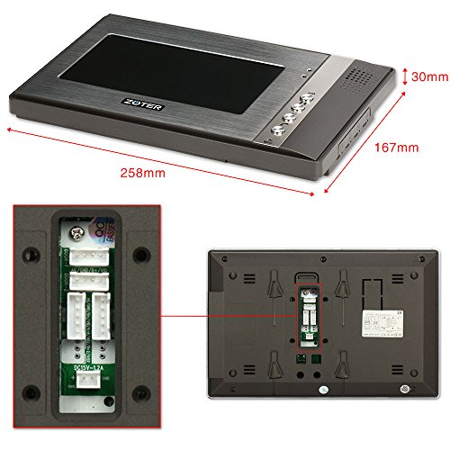 "Generic 7"" inch Color LCD Video Door Phone Doorbell Home Entry Intercom System 2 Monitor 1 Metal Camera Night Vision 702"